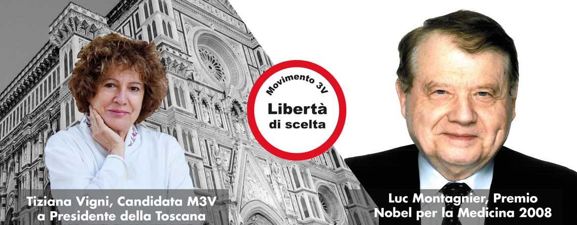 Il Premio Nobel Luc Montagnier sostiene la Candidata M3V alla Presidenza della Toscana