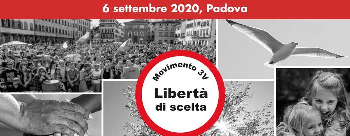 """M3V annuncia la manifestazione nazionale """"LIBERTÀ"""" il 6 settembre a Padova"""