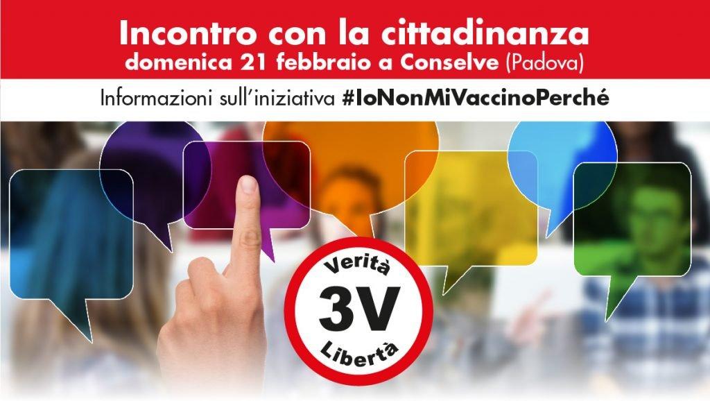 iononmivaccinoperché - incontro con la cittadinanza Movimento 3V