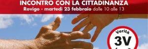 Rovigo, incontro con la cittadinanza