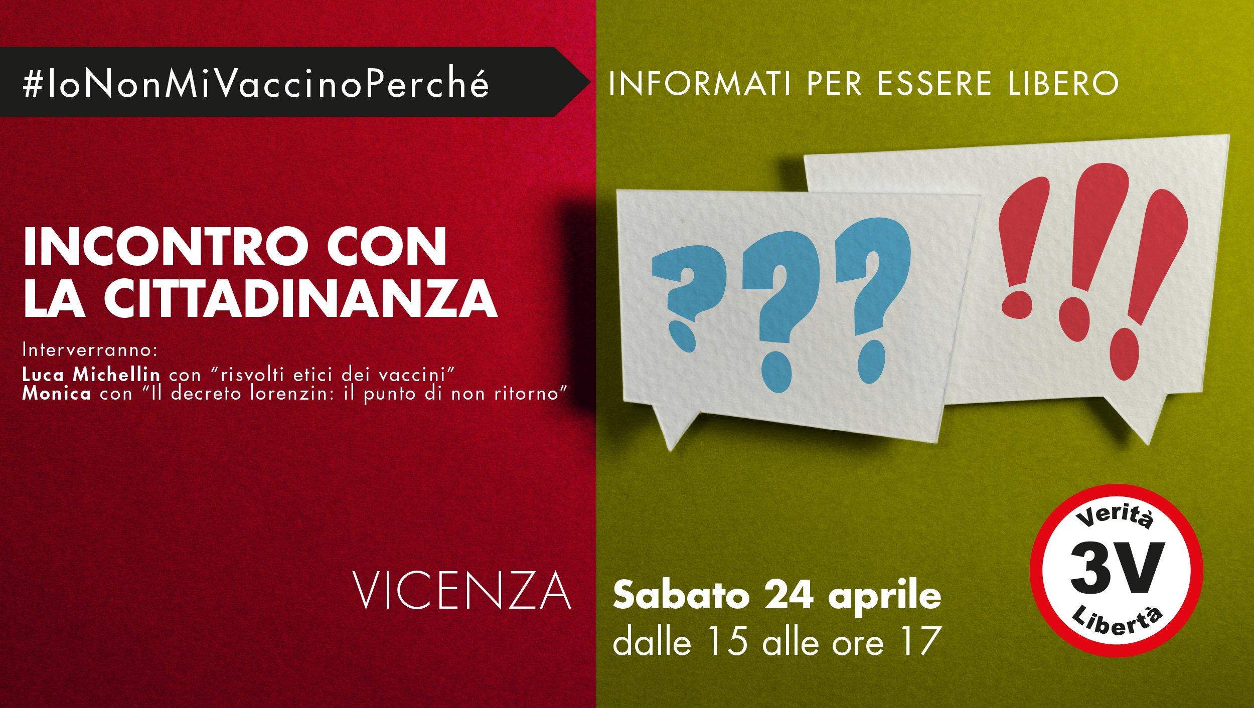 Vicenza 3V incontra la cittadinanza