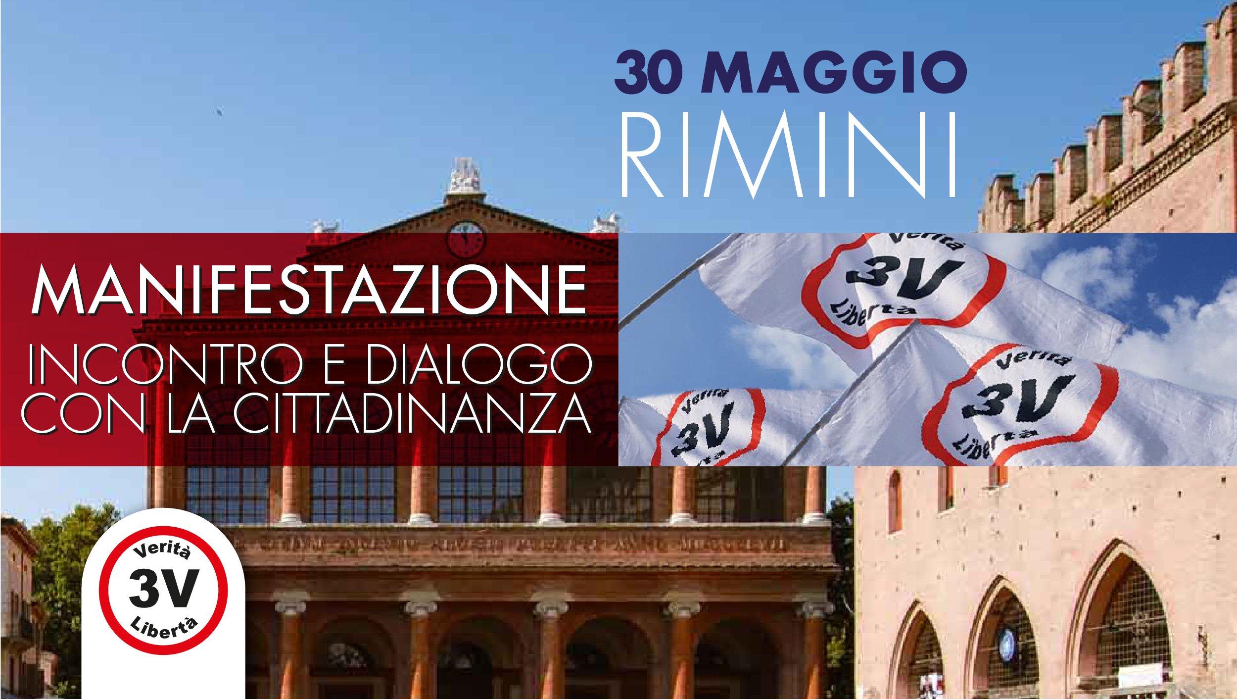 Manifestazione 3V Rimini: incontro e dialogo con la Cittadinanza