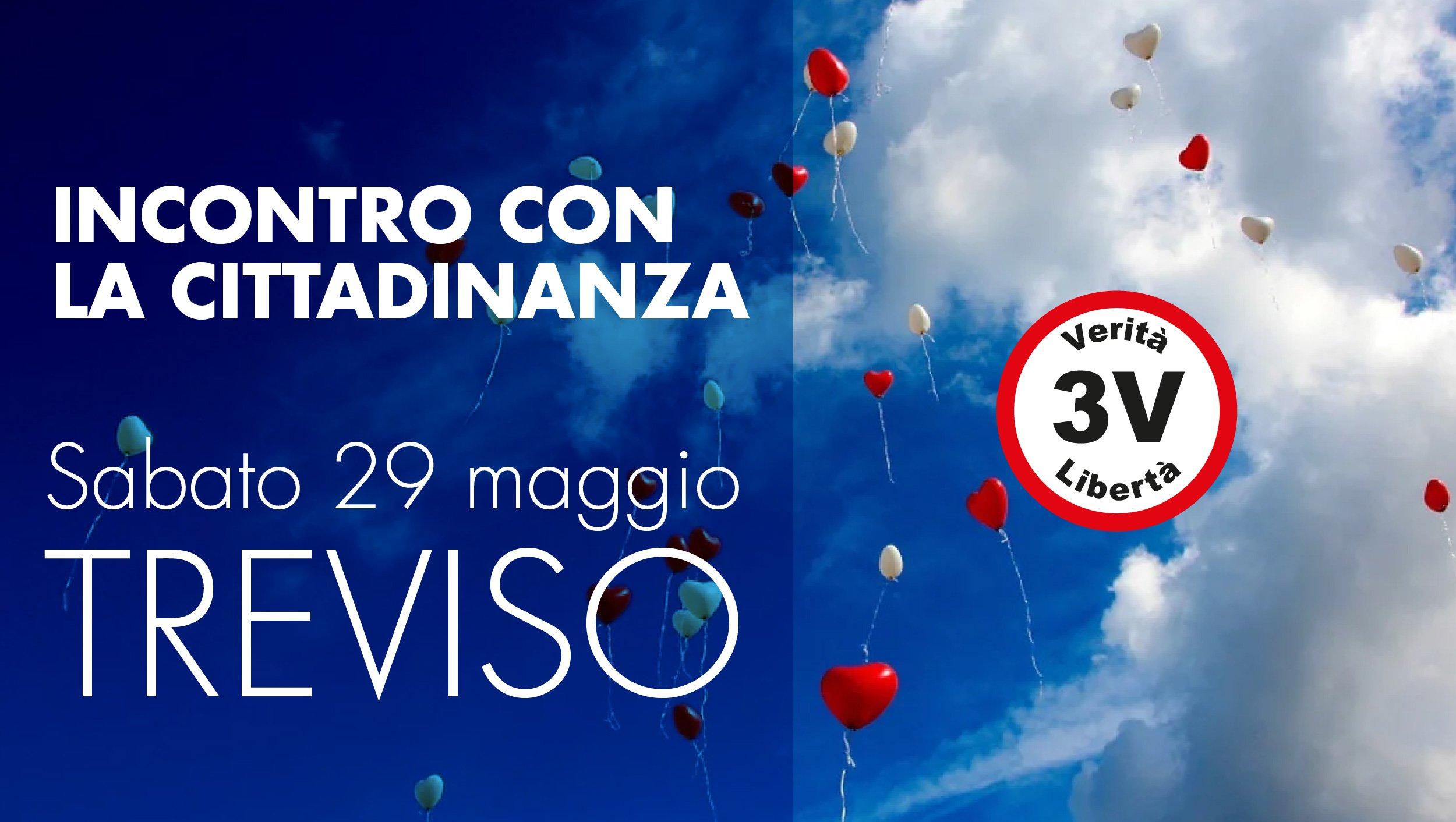 Treviso, incontro con la cittadinanza di 3V