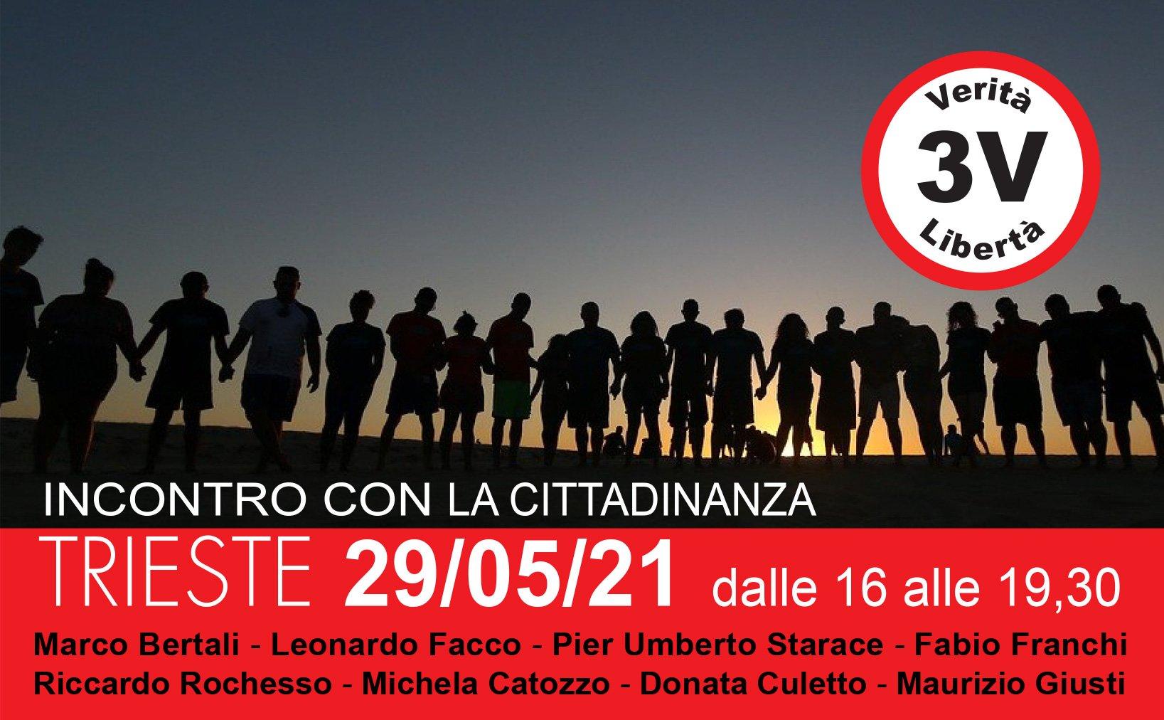 3V, incontro con la cittadinanza a Trieste