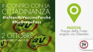 3V, incontro con la cittadinanza a Padova